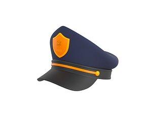 3D police hat