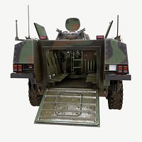 Mowag - Piranha III C -  interior fully modeled.- Real Time Model -