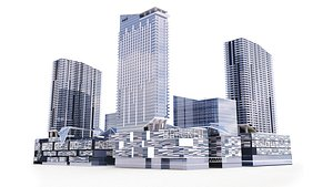 Brickell centre  Miami 3D model