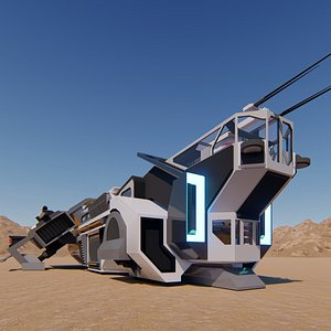 future space cruiser 3D model