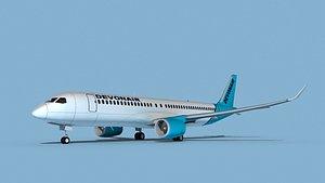 Airbus A220-300 Devonair 3D model