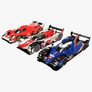 3D WEC LMH 2021 Race Car Collection model