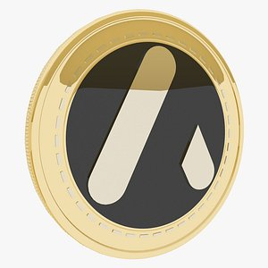 ATLANT Cryptocurrency Gold Coin 3D model