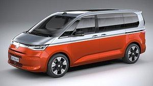 3D Volkswagen Multivan 2022
