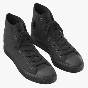 Basketball Leather Shoes Chuck Taylor 3D model