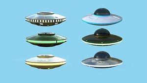 3D 06 Spaceship UFO Collection - Alien SciFi Vehicle model