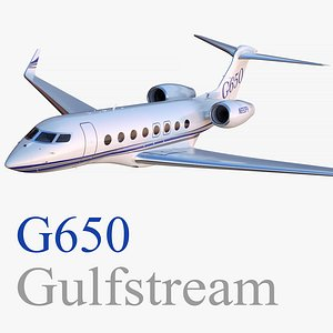 gulfstream g650 business jet 3D model