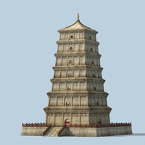 chinese pagodas 3D