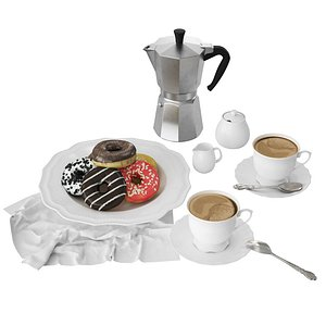 3D model Classic Dish with Donuts