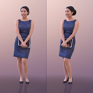 3D woman dress elegant