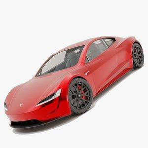 3D tesla roadster 2020 model