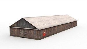 Wooden hangar model