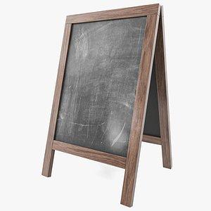 3D Chalkboard street display mockup 03