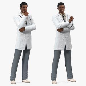 3D light skin black male