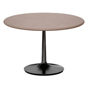 Nero 48 Concrete Dining Table with Matte Black Base 3D model