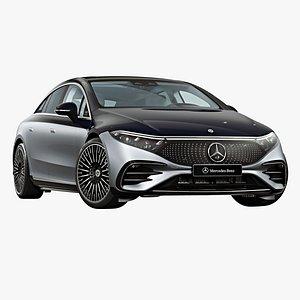 3D 2022 Mercedes-Benz EQS