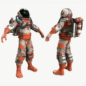 3D astronaut explorer character zbrush