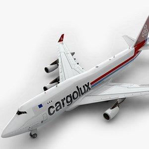 3D model Boeing 747 CARGOLUX Airlines L1385