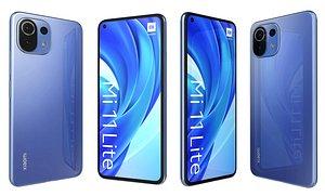 3D model Xiaomi Mi 11 Lite Blue