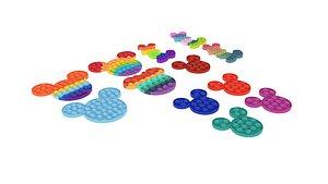 3D Mickey Mouse Pop It Fidget Toys Set