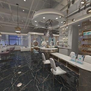 Luxury Barber Shop 3D