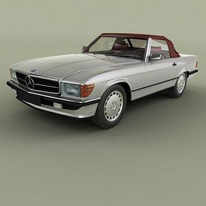3D Mercedes-Benz R107 500SL model