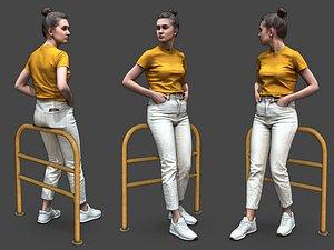 3D Stylized Woman Character model