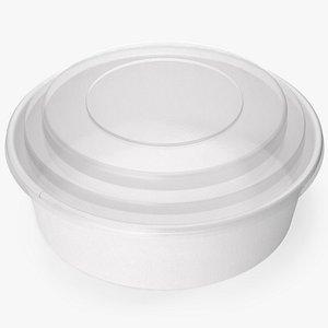 bowl food paper 3D model