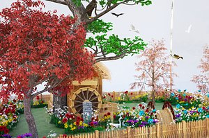 GLASS BOARD HOUSE 3D model