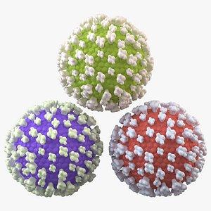3D Virus molecule