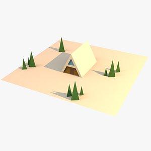 a-frame house 3D