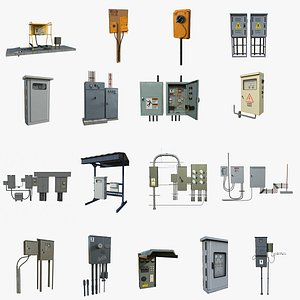 Industrial Electrical Collection 3D model