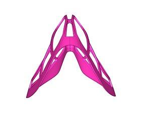 plastic separator for covid mask 3D model