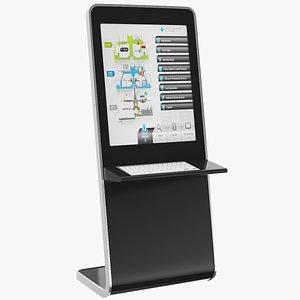 Electronic Kiosk Screen 3D