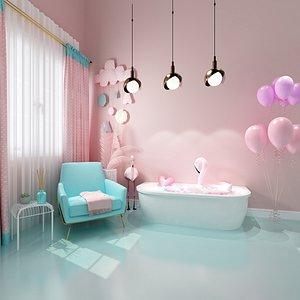 3D model pink