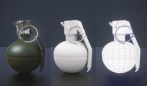 3D grenade m67 hand