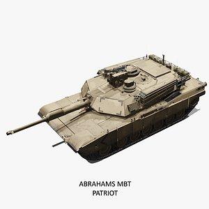MBT M1 Abrams Tank 3D
