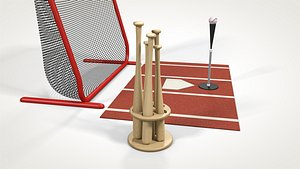 3D batting tee model