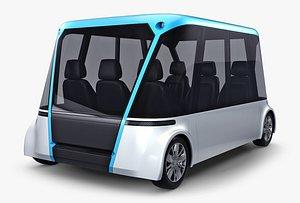 Electric Unmanned City Bus v 1 3D model