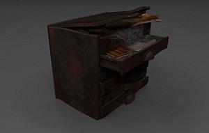 3D medieval cabinet magic experiments
