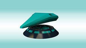 7 spaceship models 3D model