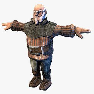 3D old man village