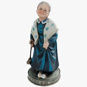 statuette woman 3D model