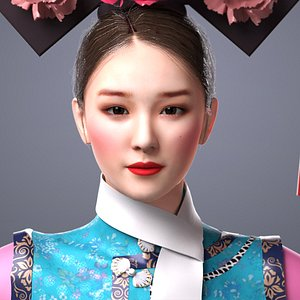 princess Qing Dynasty Chinese girl 3D model