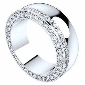 ring set women cad 3D