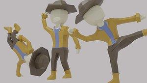 3D LowPoly Cowboy