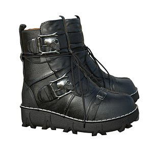 3D model boot gothic