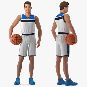 3D Teen Boy Basketball Rigged for Maya model