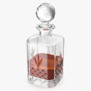 3D crystal whisky decanter