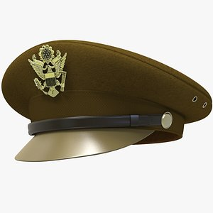US Army Officer Cap 3D